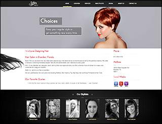 Web Design Sample, Salon 705 WordPress Website