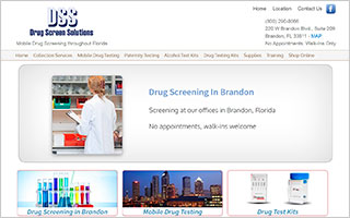 Drug Screen Solutions WordPress Website