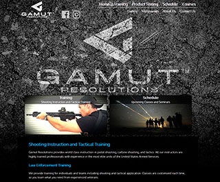 Web Design Sample, Gamut Resolutions
