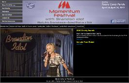 Sample Custome Web Development - Momentum Festival