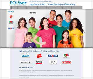 Web Design - 501 Shirts