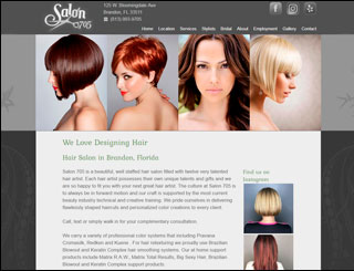 Web Design Sample, Salon 705 WordPress Website