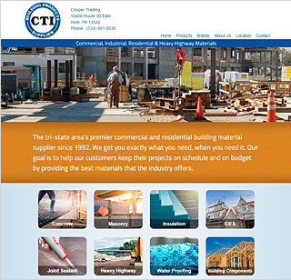 Web Design Sample, Cooper Trading