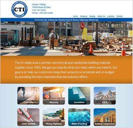 Web Design, Cooper Trading