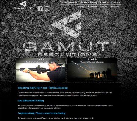 Web Design, Gamut Resolutions